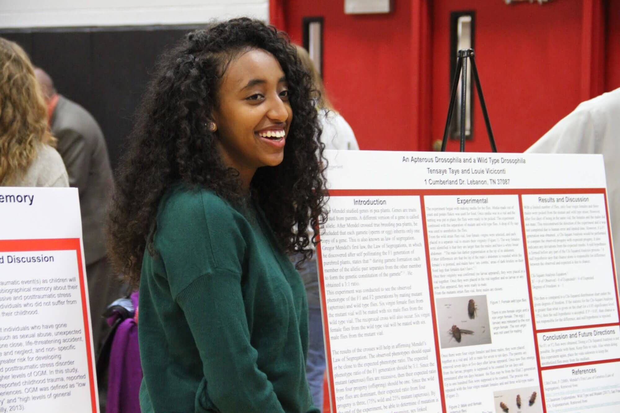 Female student presenting at Cumberland University