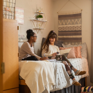 Students in a dorm